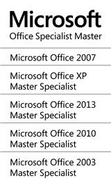 Microsoft Office Specialist MOS Master Instructor